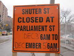 Parliament St. road reconstruction