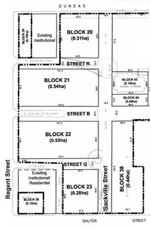 block numbering for Regent Park redevelopment